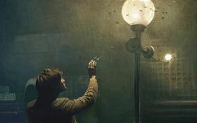 Обои man, lantern, light and magic