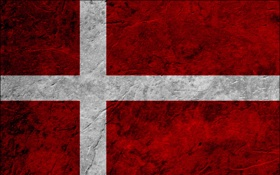 Обои red, white, flag, Denmark