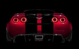 Обои полосы, Corvette, Chevrolet, фонари, шевроле, вид сзади, корвет