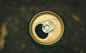 Картинка пиво, банка, открытая