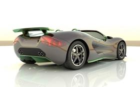 Картинка зеленый, скорость, Ronn Motor Scorpion