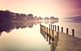 Обои природа, пейзажи, мостик