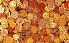 Обои текстура, монеты, страны
