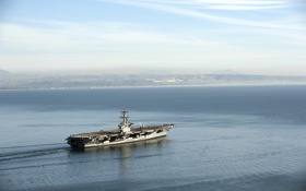 Обои оружие, корабль, The aircraft carrier USS Carl Vinson