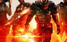 Обои бойцы, Insomniac Games, Electronic Arts, команда, Raven, оружие, Overstrike 9