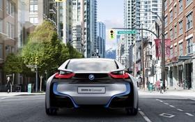 Обои город, BMW, Concept, улица
