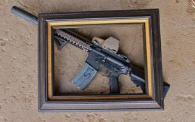 Обои оружие, рамка, винтовка, штурмовая, AR-15, BCM