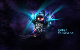 Картинка League of Legends, punk, LoL, chrome, Rammus, feel my armor, Раммус