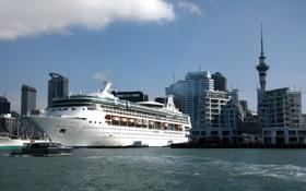 Картинка фото, корабль, New Zealand, круизный лайнер, Port of Auckland
