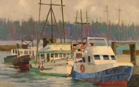 Картинка пристань, корабли, яхты, лодки, причал, пирс