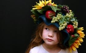Обои настроение, девочка, шляпка