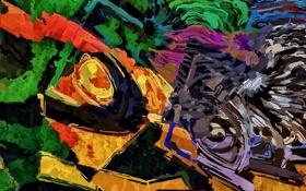 Обои цвет, картина, живопись