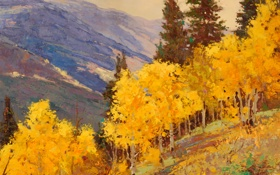 Обои арт, Sean Wallis, Autumn Contrast