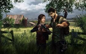 Картинка девушка, дом, оружие, апокалипсис, мужик, снайперка, The Last Of Us