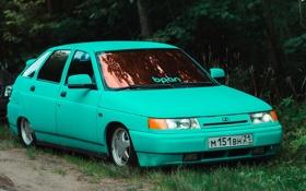 Обои машина, авто, оптика, Lada, auto, 2112, ВАЗ