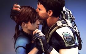 Обои Resident Evil, fanart, Jill Valentine, Chris Redfield