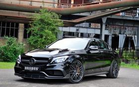 Обои Mercedes, амг, мерседес, C-Class, C 63, AMG, W205