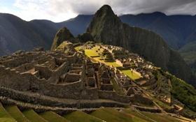 Обои пейзаж, горы, природа, фото, строения, Мачу-Пикчу, древние