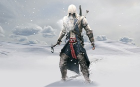 Обои зима, Ubisoft, Assassin's Creed, Коннор, Assassin's Creed III, Коннор Кенуэй, Ubisoft Montreal