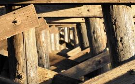 Картинка макро, мост, опоры