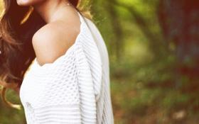 Картинка девушка, кожа, плечо