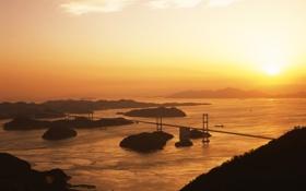 Картинка мост, Япония, залив, Japan, Kurushima strait
