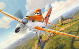 Обои мультфильм, Pixar, Cars, rally, wings, Тачки, Walt Disney