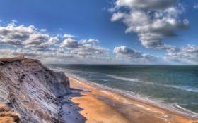 Картинка берег, Lønstrup, Nordjylland, Denmark, Rubjerg Knude, море