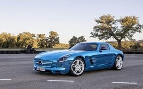 Обои Mercedes-Benz, Авто, Мерседес, Асфальт, AMG, SLS, Хром