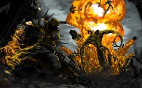 Картинка бой, fallout, коготь смерти