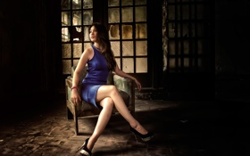 Картинка кресло, платье, туфли, ножки