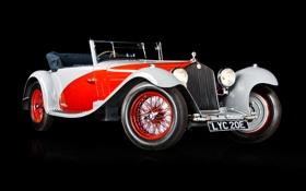 Обои ретро, red, white, alfa romeo, retro, 1933