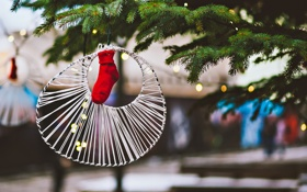 Обои праздник, Новый Год, Рождество, Christmas, bokeh, New Year
