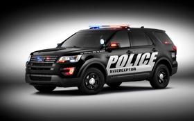 Обои Ford, полиция, форд, Police, Interceptor, 2015, U502