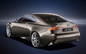 Обои Concept, фон, купе, Lexus, Концепт, Лексус, вид сзади
