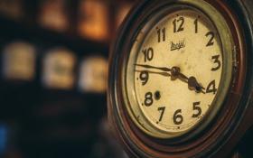 Обои ретро, стрелки, часы, старые, циферблат, retro, винтаж