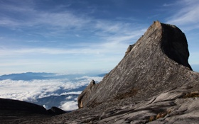 Обои облака, скалы, небо, красивые обои для рабочего стола, wallpapers 2560x1600, пейзажи, горы