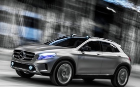 Обои машина, Concept, Mercedes-Benz, мерседес, в движении, GLA