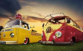 Обои Kleinbus, Volkswagen, Фольксваген