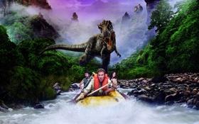 Картинка река, динозавр, джунгли, Анна Фрил, Уилл Феррелл, Дэнни МакБрайд, Затерянный мир