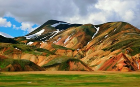 Обои небо, облака, горы, Исландия