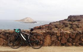 Обои море, берег, bike, привал