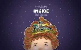Обои мечты, фантазия, мысли, девочка, воображение, inside