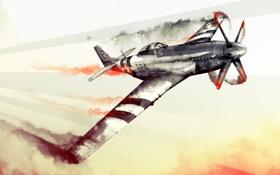 Картинка авиация, вторая мировая война, War Thunder, P51, World of Planes