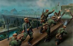 """Обои """"Stahl, рано, 10 мая 1940 года, мировая, """" нападают, в Veldwezelt, утром"""