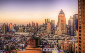 Обои закат, нью-йорк, sunset, new york, usa, manhattan, nyc
