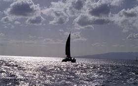 Картинка море, океан, лодка, корабль, парусник