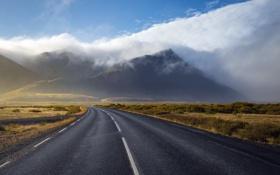 Картинка mountains, clouds, Iceland, После шторма