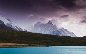 Обои вода, горы, Природа
