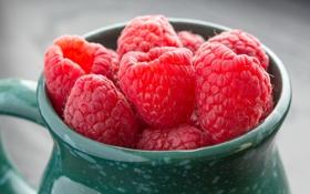 Обои Raspberries, макро, ягоды